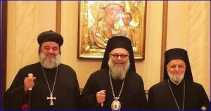 Patriarchs John X of the Greek Orthodox Church of Antioch,