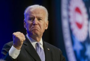 Vice President Joe Biden gestures while  speaking at the 2014 UAW National Community Action Program Conference in Washington, Wednesday, Feb. 5, 2014. (AP Photo/Cliff Owen)